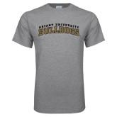 Grey T Shirt-Arched Bryant University Bulldogs