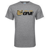 Grey T Shirt-We Are One Distressed