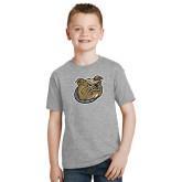 Youth Grey T-Shirt-Bulldog Head