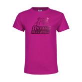Youth Fuchsia T Shirt-Bryant Official Logo Foil