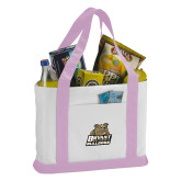 Contender White/Pink Canvas Tote-Bryant Official Logo