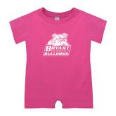 Bubble Gum Pink Infant Romper-Bryant Official Logo