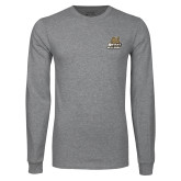 Grey Long Sleeve TShirt-Bryant Official Logo