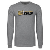Grey Long Sleeve TShirt-We Are One Distressed