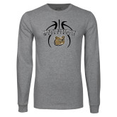 Grey Long Sleeve T Shirt-Basketball in Ball