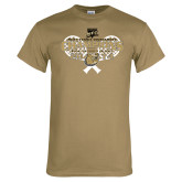 Khaki Gold T Shirt-Mens Tennis Champions