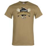 Khaki Gold T Shirt-2014 Womens Lacrosse Champions