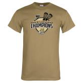 Khaki Gold T Shirt-2014 Mens Lacrosse Champions