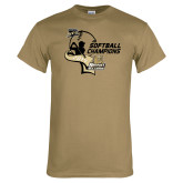 Khaki Gold T Shirt-2014 Softball Champions