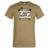 Khaki Gold T Shirt-2014 Baseball Champions
