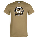 Khaki Gold T Shirt-50th Soccer Logo