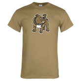 Khaki Gold T Shirt-Bulldog