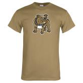 Khaki Gold T Shirt-Bulldog