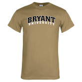Khaki Gold T Shirt-Arched Bryant University