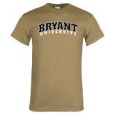 Khaki Gold T Shirt-Arched Bryant University