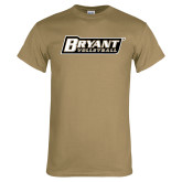Khaki Gold T Shirt-Volleyball