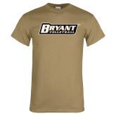 Khaki Gold T Shirt-Volleyball