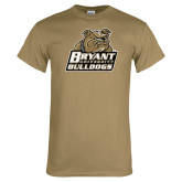 Khaki Gold T Shirt-Bryant Official Logo Distressed