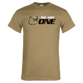 Khaki Gold T Shirt-We Are One Distressed