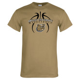 Khaki Gold T Shirt-Basketball in Ball