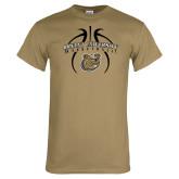 Khaki Gold T Shirt-Basketball in Ball