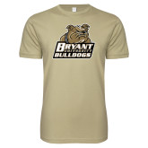 Next Level SoftStyle Khaki T Shirt-Bryant Official Logo