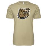 Next Level SoftStyle Khaki T Shirt-Bulldog Head