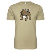 Next Level SoftStyle Khaki T Shirt-Bulldog