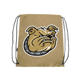 Nylon Vegas Gold Drawstring Backpack-Bulldog Head