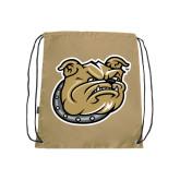 Nylon Vegas Gold Drawstring Backpack-Bulldog Head