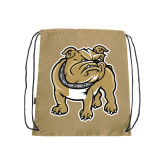Nylon Vegas Gold Drawstring Backpack-Bulldog