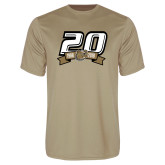 Performance Vegas Gold Tee-20th Football Logo