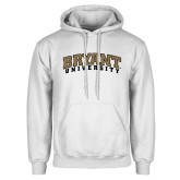 White Fleece Hoodie-Arched Bryant University