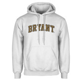 White Fleece Hoodie-Arched Bryant