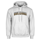 White Fleece Hoodie-Arched Bryant University Bulldogs