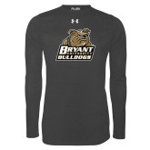 Under Armour Carbon Heather Long Sleeve Tech Tee-Bryant Official Logo