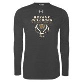 Under Armour Carbon Heather Long Sleeve Tech Tee-Basketball Stacked on Ball