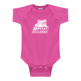 Fuchsia Infant Onesie-Bryant Official Logo