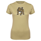 Ladies Syntrel Performance Vegas Gold Tee-Bulldog