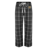 Black/Grey Flannel Pajama Pant-Bulldog Head