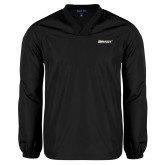 V Neck Black Raglan Windshirt-Bryant