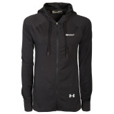 Ladies Under Armour Black Varsity Full Zip Hoodie-Bryant