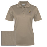 Ladies Vegas Gold Dry Mesh Polo-Bulldog Head