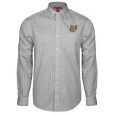 Red House Grey Plaid Long Sleeve Shirt-Bulldog Head