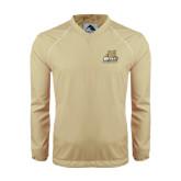 Colorblock V Neck Vegas Gold/White Raglan Windshirt-Bryant Official Logo