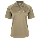 Ladies Vegas Gold Textured Saddle Shoulder Polo-Bryant Official Logo