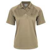 Ladies Vegas Gold Textured Saddle Shoulder Polo-Bulldog Head