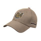 Khaki Heavyweight Twill Pro Style Hat-Bulldog Head