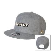Heather Grey Wool Blend Flat Bill Snapback Hat-Bryant