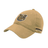 Vegas Gold Twill Unstructured Low Profile Hat-Bulldog Head